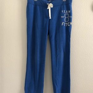 Abercrombie & Fitch blue sweat pants